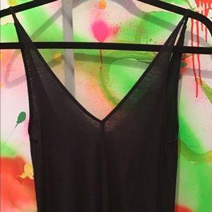H&M BLACK SPAGHETTI STRAP DRESS SIZE 4